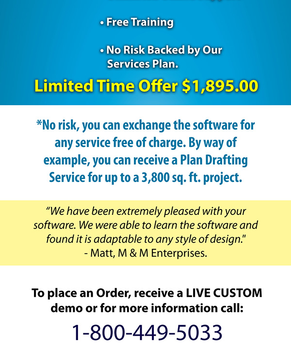 To place an order, receive a live custom demo, or for more information, call 1-800-449-5033
